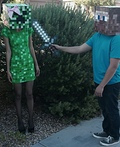 Minecraft Steve and Creeper Costume