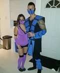 Mortal Kombat Mileena and Subzero Costume