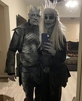Night King and Queen Game of Thrones Costume
