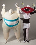 Oblina and Krumm from Ahh Real Monsters Costume