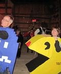 Pac Man and Blue Ghost Costume