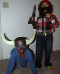 Paul Bunyan and the Blue Ox Costume