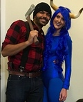 Paul Bunyan with Babe the Blue Ox Costume