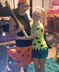Pebbles and Bam Bam Costume