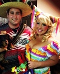 Pinata and a Mexican Costume