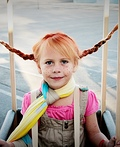Pippi Longstocking in Hot Air Balloon Costume