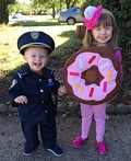 Police Man and Donut Costume