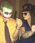 Police Woman and Joker Costume