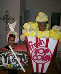 Popcorn and M&M's Costume