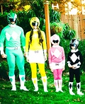 Power Rangers Family Costume