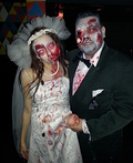 Pregnant Zombie Bride and Groom Costume