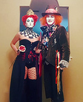 Queen of Hearts and Mad Hatter Costume