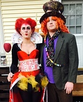 Queen of Hearts and the Mad Hatter Costume