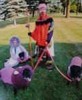Rafiki and her Purple Pride Costume