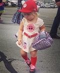 Rockford Peach Baseball Player Costume