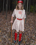 Rockford Peaches Women's Baseball League Costume