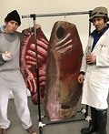 Rocky Balboa and Paulie with The Meat Costume