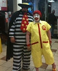 Ronald McDonald & Hamburglar Costume