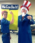 Rosie & Uncle Sam Costume