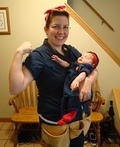 Rosie the Riveter and mini Rosie the Riveter Costume