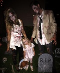 Scary Zombie Family Costume
