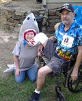 Shark and Victim Costume