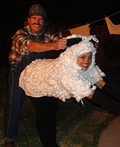 Sheepgirl and Redneck Costume