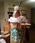 Starbucks Venti Iced Caramel Latte Costume