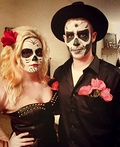 Sugar Skull and Skeleton Costume