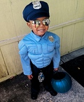 Super Buff Police Man Costume