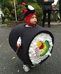 Sushi Roll with Kikkoman Soy Sauce Costume