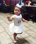 Tall Frappuccino with Extra Whipped Cream Costume