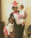 The Cat in the Hat and Thing 1 and Thing 2 Costume