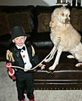 The Lion Tamer and his Lion Costume