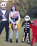 The Nightmare Before Christmas Family Costume