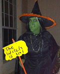 The Witch Is In Costume
