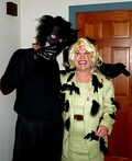 Tippi Hedren and a Crow Costume