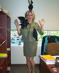 Tippi Hedren in The Birds Costume