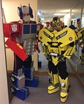 Transformers Bumblebee and Optimus Prime Costume