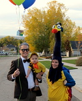 Up: Mr. Fredrickson, Kevin, and Russel Costume