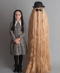 Wednesday Addams and Cousin It Costume