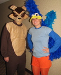 Wile E Coyote and Roadrunner Costume