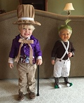 Willy Wonka and his Oompa Loompa Costume