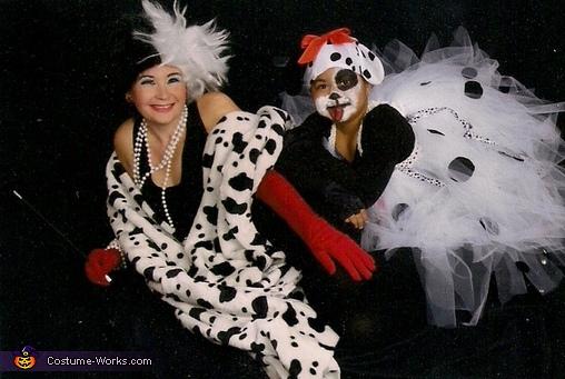 Corella DeVille & Her Puppy, 101 Dalmatians and Cruella DeVille Costume