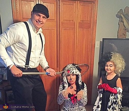101 Dalmatians Family Homemade Costume