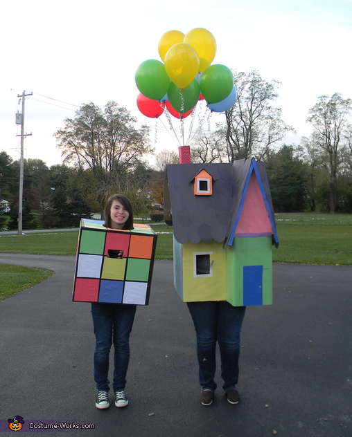 Rubiks cube and House from the movie Up Costume