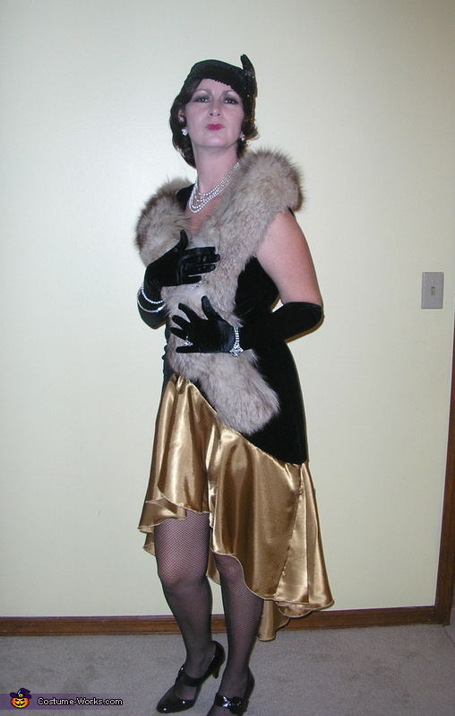 The fur from Goodwill makes it!, 1920's Flapper and Gangster Costumes