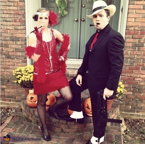 1920s Flapper and Gangster Couple Costume