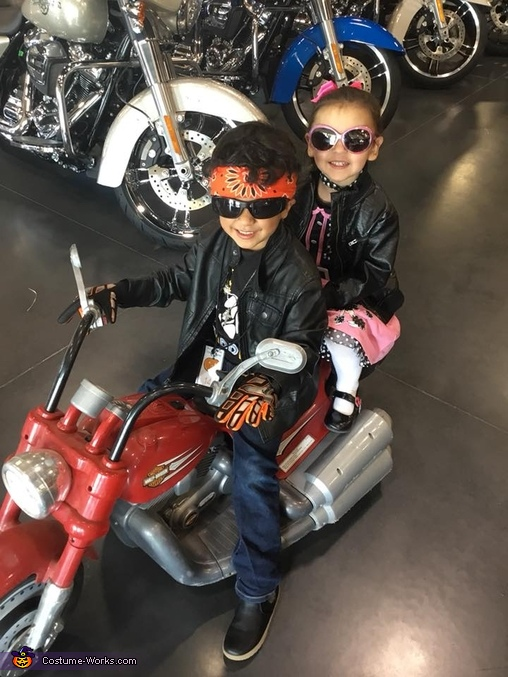 1950's Biker and Poodle Skirt Cutie Homemade Costume