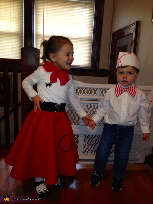 1950's Poodle Girl and Soda Jerk Homemade Costumes